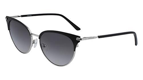 Calvin Klein EYEWEAR Womens CK19309S Sunglasses, BLACK, 5516
