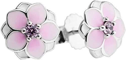 VVHN 2017 Colección de Primavera. 925 Sterling Silver - Magnolia Blossom Stud Pendientes para Mujer Artículos de joyería