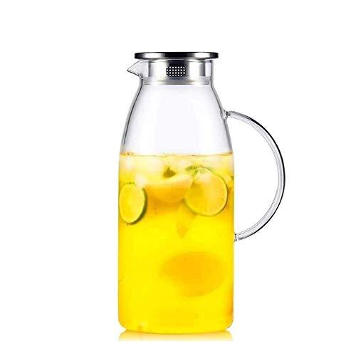 JHSHENGSHI Vaso con Tapa, Tetera de té de Gran Capacidad y Duradero, Muy Adecuado para Bebidas de té Tetera de Vidrio