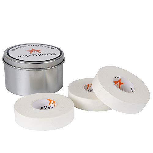 AMATHINGS 3-4 rollen klimtape in metalen doos 1,5 cm breed in zwart ideale vingertape en sporttape voor klimmen boulders krachtsport volleybal vechtsport
