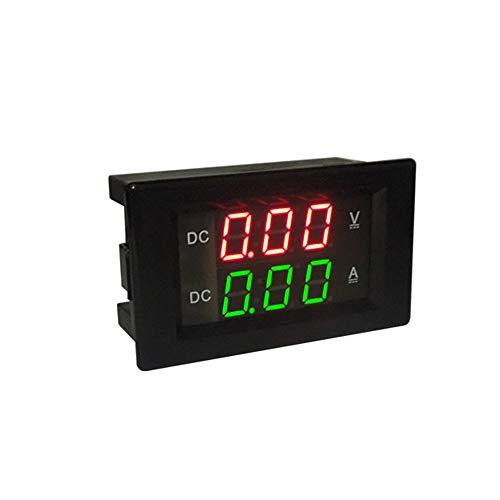 "ILS - DC 300V 50A Digital-Voltmeter Amperemeter DC Volt AMP Tester Messgerät mit roten und grünen LED keines Shunt mit rückseitiger Abdeckung 0,39 LED"""