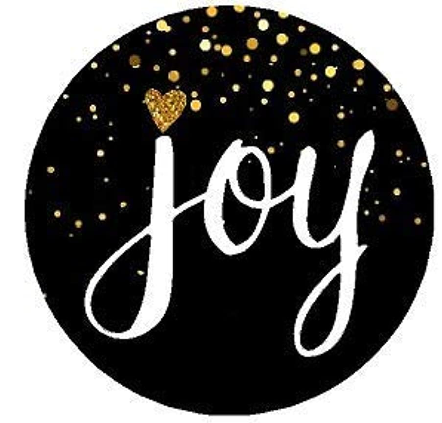 96pack Joy Black Glitter Chirstmas Holiday Stickers Labels Envelope Decorative Seals -1.5inch