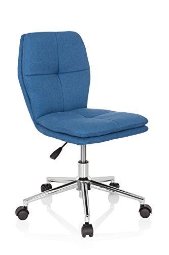 hjh OFFICE 670943 Kinder-Schreibtischstuhl Joy I Stoff Blau Drehstuhl modern, bequem gepolstert, höhenverstellbar