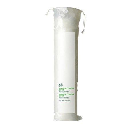 Paquet de 100 cotons démaquillants ronds fabriqués à partir de coton 100% bio Cotons texturés des 2 côtés