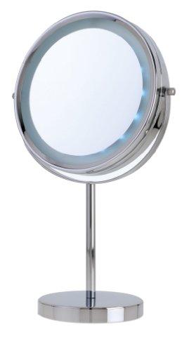 Danielle Creations Miroir à LED sur pied grossissant x5