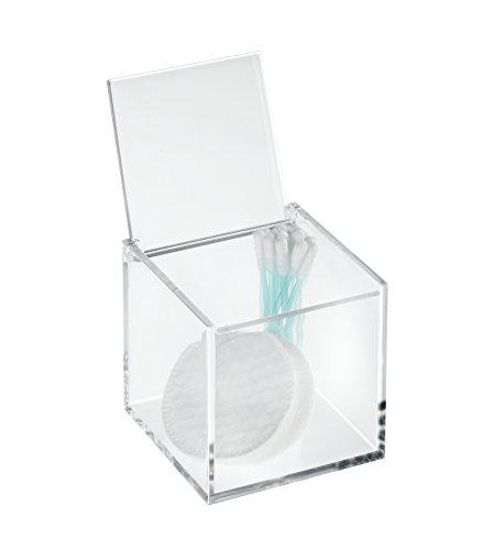 Wenko 22659100 Kosmetik Organizer Box Femme, mit Deckel - Kosmetik-Aufbewahrung, Make-Up Organizer, 8 x 8 x 8 cm, Acryl, Transparent