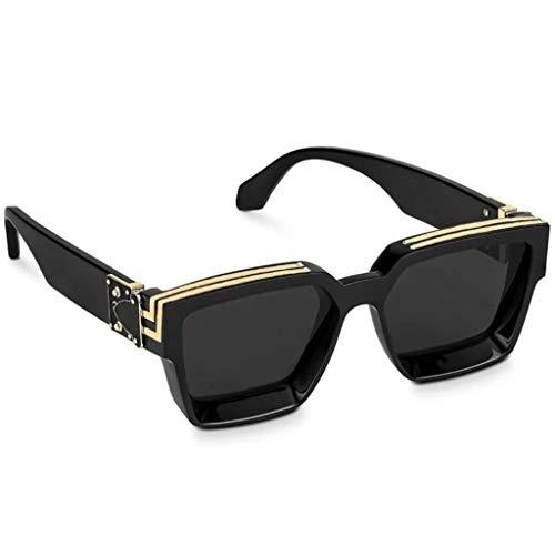 ARZONAI Unisex Adult Square Sunglasses (Black Lens) (Medium)