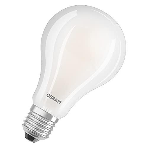 OSRAM LED Star Classic A200, lámpara LED de filamento esmerilado en forma de bombilla, B22d, blanco cálido (2700K), 3452 lúmenes, sustituye a las bombillas convencionales de 200W, paquete de 1