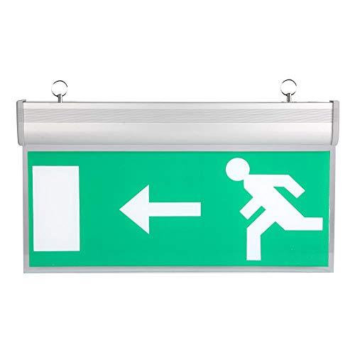 Tosuny Acryl-LED-Notlichtleuchte, Evakuierungsanzeigelampe Links Rechts, Notlicht-Notlicht für Tag/Supermarkt/Hotel/Krankenhaus/Hotel/Studienstation