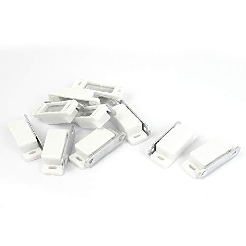 New Lon0167 Schrank Schrank Vorgestellt Kleiderschrank Tür Magnetverschluss zuverlässige Wirksamkeit Latch Catch Weiß 10st(id:8ab 39 92 57a)