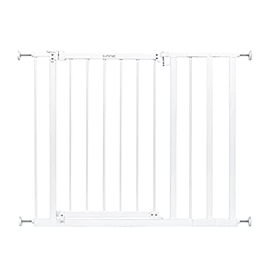 """Summer Everywhere Extra Wide Walk-Thru Safety Gate Safety Baby Gate, Fits Openings 28.75-39.75"""" Wide, Metal, for Doorways & Stairways, 30"""" Tall, White, One Size by AmazonUs/SUML7"""
