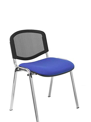 Piqueras y Crespo Pack 4 sillas Garaballa Malla Sillería, Azul, Estandar