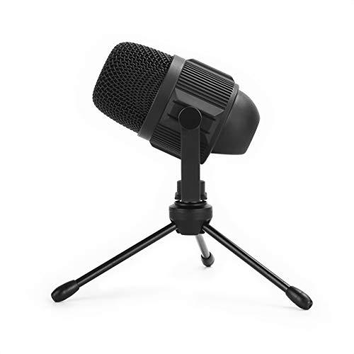 Majority RS1 - Micrófono de condensador USB direccional para streaming, podcasts, juegos, cantar, equipo de grabación en casa. Micro de escritorio para PC, Mac, incl. soporte de escritorio trípode