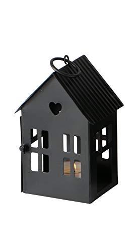 Boltze Laterne Alamo Häuser Eisen lackiert Höhe 13-35 cm Dekoration Kerzenschein, Größe:klein