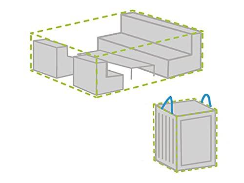 Ensemble de housses de protection pour salon de jardin 300 x 200 cm + housse pour 6-8 coussins