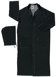 MCR Safety Classic Plus 35mm PVC, 60 Inch Black Fire Resistant Raincoat - 5X-Large