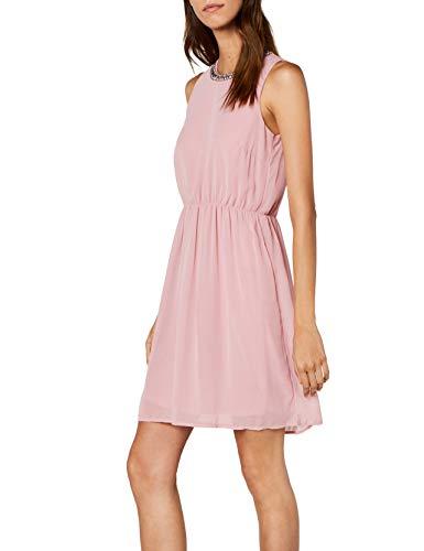 VERO MODA Damen VMDENICE S/L Dress D2-2 Kleid, Rosa (Zephyr Zephyr), 38 (Herstellergröße: M)