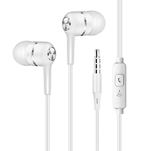 Earbud Headphones, in-Ear Earbuds with Mic and Remote, Wired 3.5mm Headset Bass Earphones