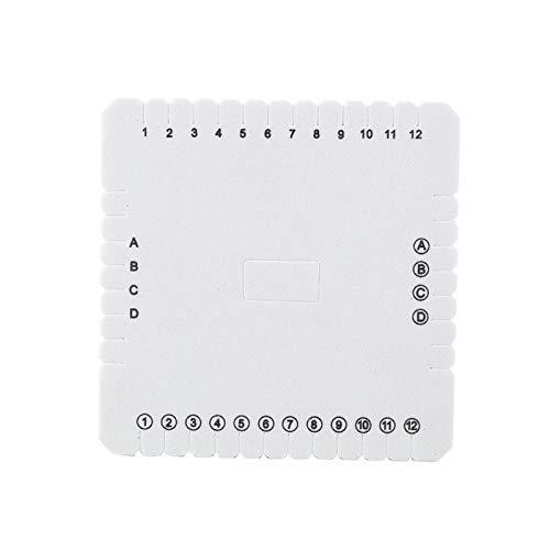 Jeanoko Disco de cordón de Abalorios Placa de Trenzado Tablero Cuadrado Disco de Trenzado Blanco Herramienta de Trenzado para Collar Hecho a Mano(105mm)