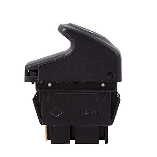 Keenso Interruptor de botón de elevalunas eléctrico eléctrico de 6 pines, botón de elevalunas eléctrico para VRenault Clio II 2 Megane I Kangoo 7700838101