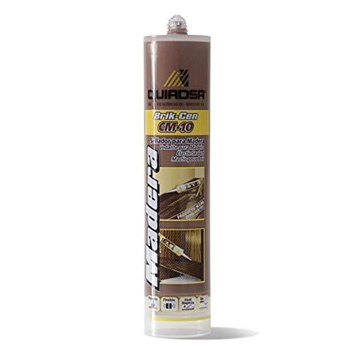 Quiadsa 52502325 Sellador Elástico para Madera, Nogal, 300 ml