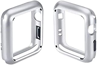 Watch Case Magnetic Adsorption Aluminum Metal Frame Alloy All Protector Cover Case for Apple Watch Case 38mm