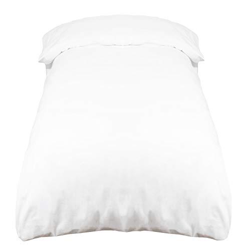 ZOLLNER Funda nórdica de algodón 100%, Blanca, Cama 80-90 cm, en Otra Medida