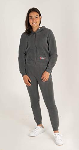 Gennadi Hoppe Kinder Sweat Jogginganzug Sportanzug Trainingsanzug, dunkelgrau, 146/152
