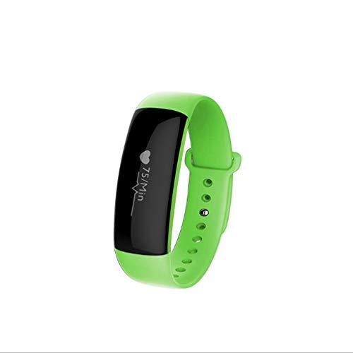 Smart Bracciale Monitoraggio della pressione del polso Movimento intelligente Bracciale Pedometro Polsino indossato IP67 Smartwatch impermeabile (verde)