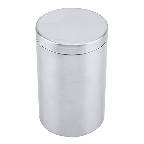 HEEPDD Edelstahl Mann Zigarettenschachtel Zylindrischer Aufbewahrungskoffer Kleiner Aufbewahrungsbehälter für Tee Kaffeebohne Zuckergewürz Wattestäbchen Stick