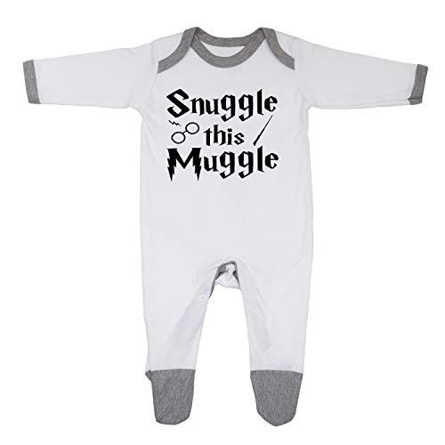 Traje de dormir de niño y niña inspirado en Snuggle this Muggle, diseñado e impreso en el Reino Unido, 100% algodón.