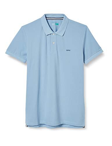 ESPRIT Herren 069EE2K038 Polohemd, 440/LIGHT Blue, XL