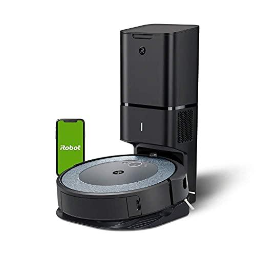 iRobot Roomba i3+ (i3552), Neuheit 2021, WLAN-Saugroboter mit automatischer Absaugstation, 2 Gummibürsten für alle Böden, individuelle Anpassung, Sprachassistenten-fähig, kompatibel mit Braava Jet...