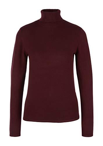 s.Oliver BLACK LABEL Damen Pullover mit Turtleneck Bordeaux 44