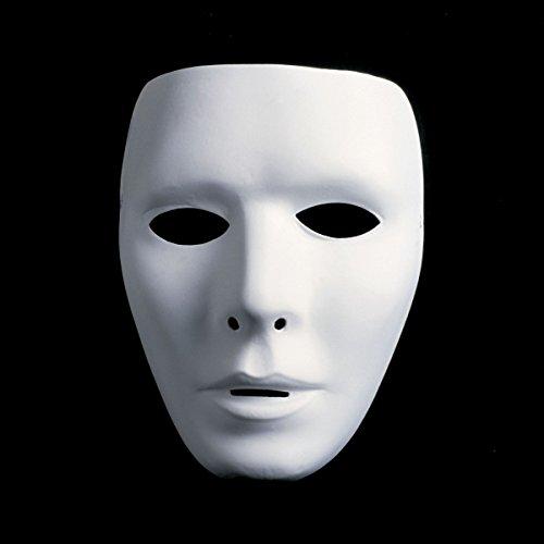 Neutral, Inkognito-Karnevalmaske, für Herren, weiß und unbemalt (Kostümzubehör)
