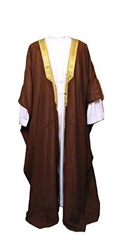 Desert Dress Wüsten Robe Arabisch Saudi Mantel Mishlah Sheikh Royalty Omani Dubai Gulf - Braun, k.A.