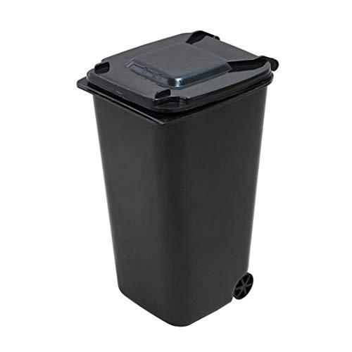 Nesee Desktop Trash Can,Mini Wheelie Trash Can Storage Bin Desktop Organizer Pen/Pencil Cup,Creative Dust Bin School Supplies Holder