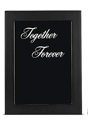 AF ANDREW FAMILY Black Together Forever Bilderrahmen für Hochzeit, Sandzeremonie, Schattenbox-Set, 20,3 cm, Holzglas, Sandrahmen, Weiß und Blau Glassand