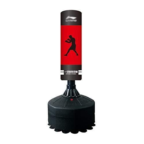 ZXQZ Punchingsäcke Schwere Boxsack, Boxtrainingsgeräte mit Saugnapfboden, Haushalt Stehend Taekwondo Becher Boxsack Standboxsäcke (Color : Black)