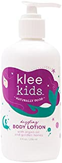 Luna Star Naturals Klee Kids Dazzling Body Lotion with Argan Oil and Honey, 8 Ounce