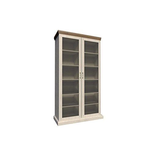 Furniture24 Vitrine ROYAL WS, Schrank, Wohnzimmerschrank, 2 Türiger Vitrinenschrank