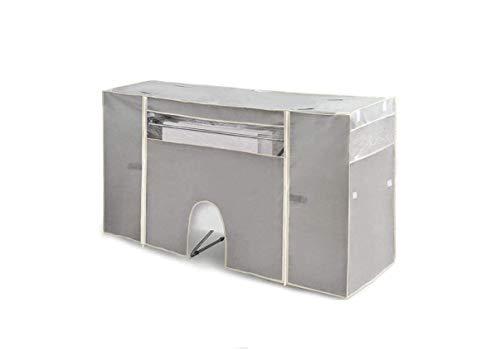 Dream Hogar Funda Cubre tendedero para Ropa para Calefactor Ajustable a Todos los tendederos Gris 180x106x56 cm