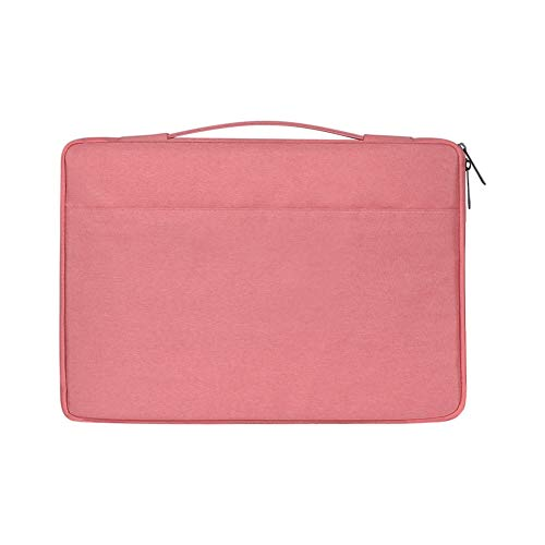 Laptop Sleeve, 15.6 Zip Up Waterproof, Breathable, wear-Resistant, Anti-Theft, Lightening, Shockproof Bag Cover Case for MacBook,Pink