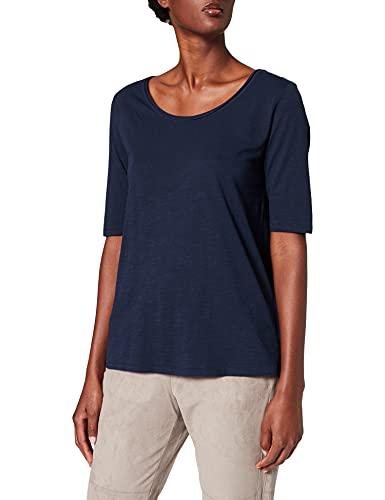 Esprit 071EE1K346 T-Shirt, 400/bleu Marine, XXL Femme