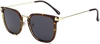 Fashion Large Frame Glasses Metal Square Simple Retro Sunglasses Retro (Color : Multi-Colored)