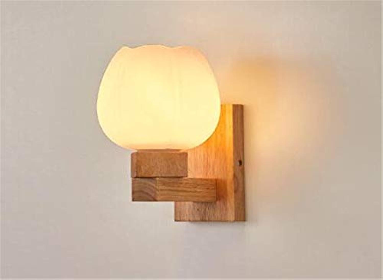 Neue Nordic Holz Wandleuchte Moderne Einfache Led Schlafzimmer Nachtwandleuchte Persnlichkeit Kreative Hotel Wandleuchte (200mm  150mm) 85-240 V