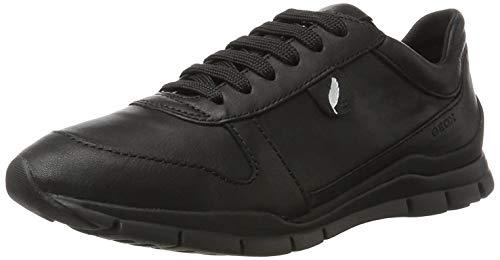 Geox Damen D Sukie a Sneaker, Schwarz Black, 38 EU