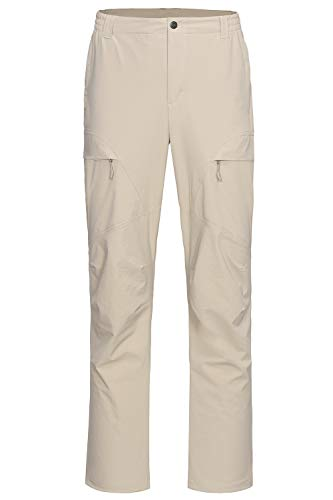 Libin Men's Quick Dry Hiking Pants Lightweight Fishing Pants Stretch Cargo Work Pants, UPF 50, Water Resistant, Khaki L