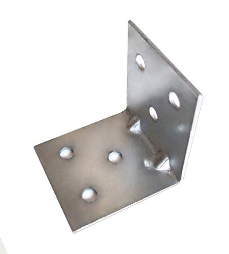 OMIdeas 40 x 40 x 40 mm Angle Connector, Silver galvanised.