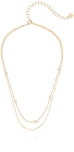 Jules Smith Layered Gold Choker Necklace For Women – Double Layered Choker...